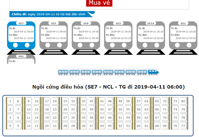 Đại lý vé tàu tại Huyện Hóc Môn